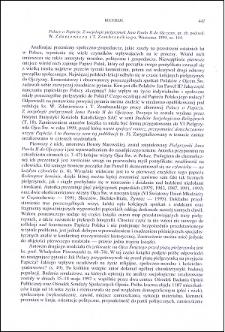 Polacy o Papieżu. Z socjologii pielgrzymek Jana Pawła II do Ojczyzny : [recenzja]