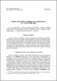 Udział Polaków w dziele ewangelizacji w latach 1000-2000