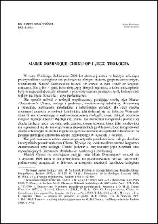 Marie-Dominique Chenu OP i jego teologia