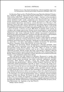 Kazimierz Panuś, Zarys historii kaznodziejstwa w Kościele katolickim. Cz. 1, Kaznodziejstwo w Kościele katolickim : [recenzja]
