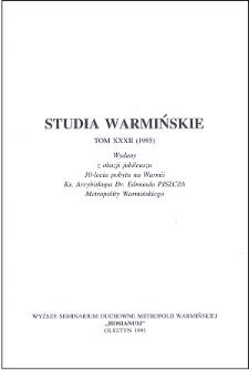 Studia Warmińskie T. 32 (1995) - cały numer