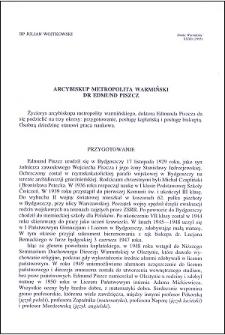 Arcybiskup Metropolita Warmiński dr Edmund Piszcz