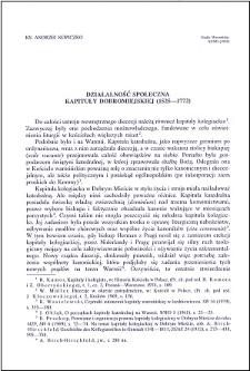 Działalność społeczna Kapituły Dobromiejskiej (1525-1772)