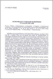 Katechizacja w diecezji warmińskiej w latach 1945-1985