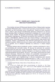 Grupy i wspólnoty parafialne diecezji warmińskiej