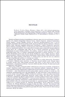 Robert Traba, Niemcy - Warmiacy - Polacy 1871-1914. Z dziejów niemieckiego ruchu katolickiego i stosunków polsko-niemieckich w Prusach : [recenzja]