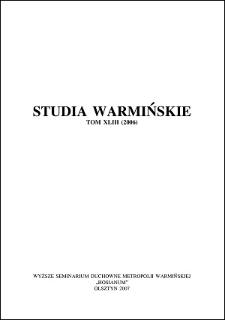 Studia Warmińskie T. 43 (2006) - cały numer