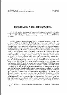 Eschatologia w teologii wyzwolenia