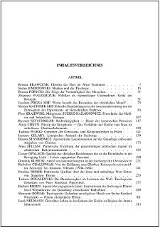 Studia Warmińskie T. 40 (2003) - spis treści