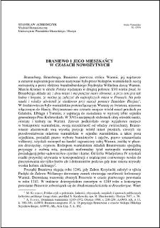 Braniewo i jego mieszkańcy w czasach nowożytnych