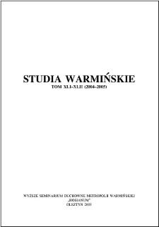 Studia Warmińskie T. 41-42 (2004-2005) - cały numer