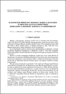Kanoniczne podstawy dialogu Maryi z szatanem w procesie szatana przeciwko rodzajowi ludzkiemu Bartola z Sassoferrato