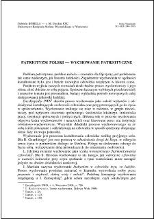 Patriotyzm polski - wychowanie patriotyczne