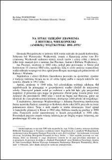 Na styku dziejów zbawienia z historią Wielkopolski : (Andrzej Wojtkowski 1891-1975)