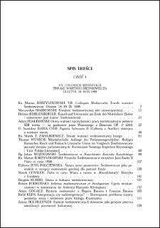 Studia Warmińskie T. 37 (2000) - spis treści