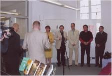 """[Zdjęcie zbiorowe twórców nominowanych do Literackiej Nagrody Warmii i Mazur """"Wawrzyn""""- 2007]"""