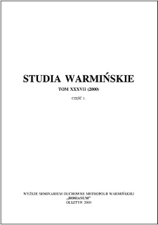 Studia Warmińskie T. 37 (2000) - cały numer