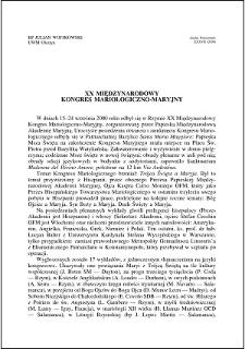 XX Międzynarodowy Kongres Mariologiczno-Maryjny