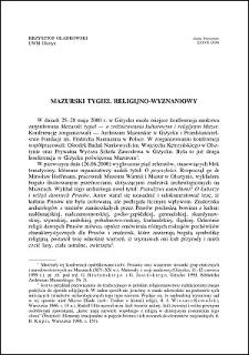 Mazurski tygiel religijno-wyznaniowy