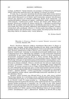 Mieczysław Krąpiec, Filozofia co wyjaśnia? Rozumieć rzeczywistość świata i człowieka : [recenzja]