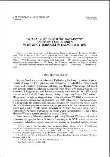 Działalność Sióstr św. Katarzyny Dziewicy i Męczennicy w Krynicy Morskiej w latach 1920-2000