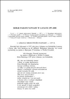 Dzieje parafii Nawiady w latach 1397-2000