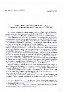 Sympozjum z okazji 400-lecia istnienia Zgromadzenia Sióstr św. Katarzyny