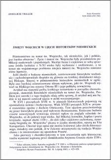 Św. Wojciech w ujęciu historyków niemieckich