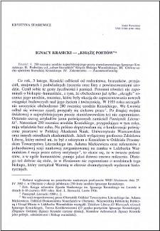 """Ignacy Krasicki - """"Książę poetów"""""""