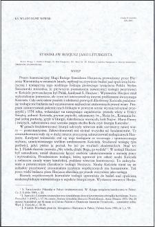 Stanisław Hozjusz jako liturgista