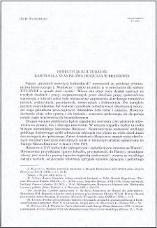 Inwestycje kulturalne kard. Stanisława Hozjusza w Braniewie