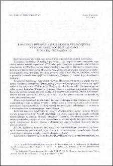 Koncepcje duszpasterskie Stanisława Hozjusza na podstawie jego działalności w diecezji warmińskiej