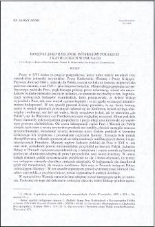Stanisław Hozjusz jako rzecznik interesów polskich i katolickich w Prusach