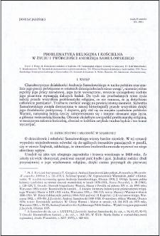 Problematyka religijna i kościelna w życiu i twórczości Andrzeja Samulowskiego