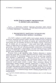 """Wzór świętej kobiety prezentowany w """"Kronice"""" Jana Długosza"""