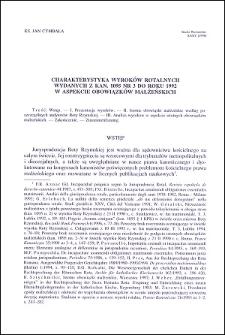 Charakterystyka wyroków rotalnych wydanych z Kan. 1095 Nr 3 do roku 1992 w aspekcie obowiązków małżeńskich
