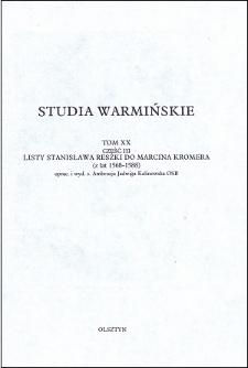 Studia Warmińskie T. 20 (1983), Część 3