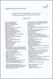 """Indeksy do """"Studiów Warmińskich"""" t. 20 (1983) część 3"""