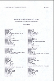 """Indeksy do """"Studiów Warmińskich"""" t. 20 (1983) : [część 1 i 2]"""