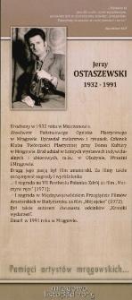 Pamięci artystów mrągowskich... Jerzy Ostaszewski