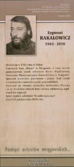 Pamięci artystów mrągowskich... Zygmunt Rakałowicz