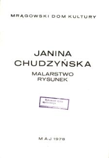Janina Chudzyńska : malarstwo rysunek