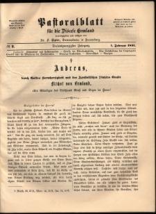 Pastoralblatt für die Diözese Ermland, 1891, nr 2
