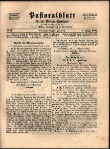 Pastoralblatt für die Diözese Ermland, 1891, nr 3