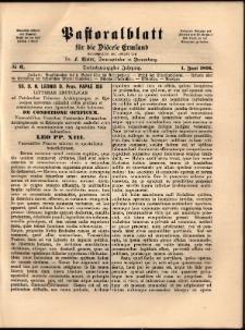 Pastoralblatt für die Diözese Ermland, 1891, nr 6
