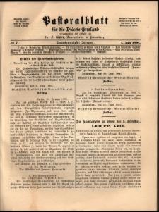 Pastoralblatt für die Diözese Ermland, 1891, nr 7