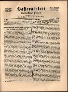 Pastoralblatt für die Diözese Ermland, 1891, nr 10
