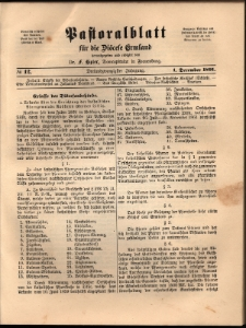 Pastoralblatt für die Diözese Ermland, 1891, nr 12
