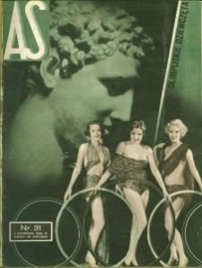As : ilustrowany magazyn tygodniowy, 1936 (R. 2), nr 31