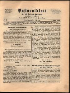 Pastoralblatt für die Diözese Ermland, 1892, nr 5